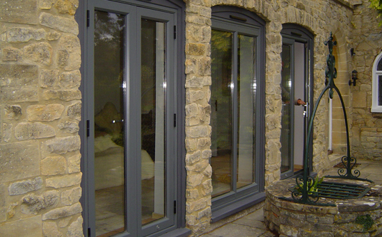 Aluminium French doors-in Hinckley & Nuneaton area