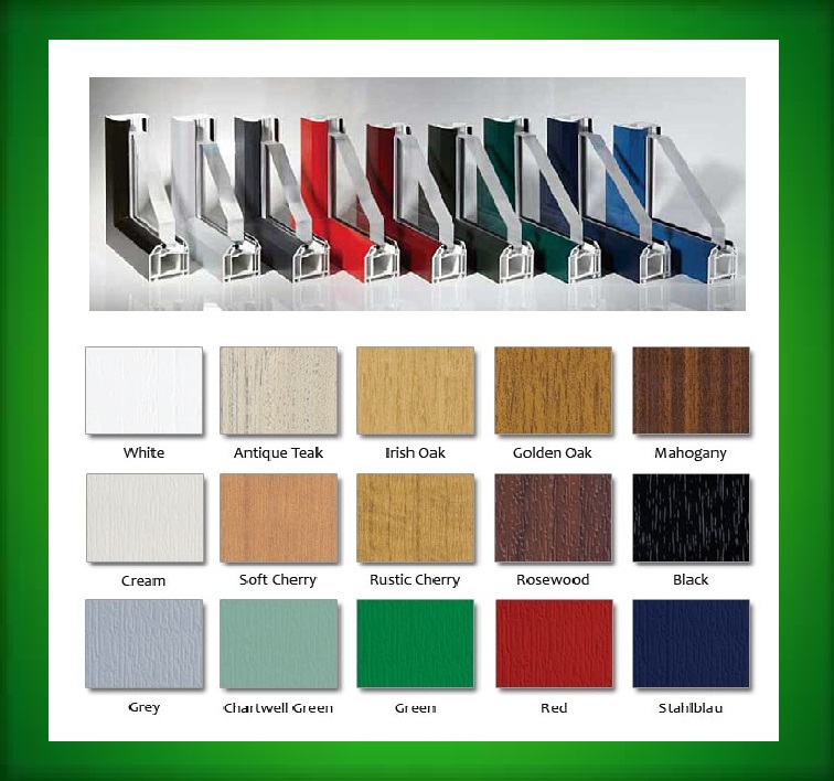 UPVC-triple glazing-colours1 Hinckley & Nuneaton area
