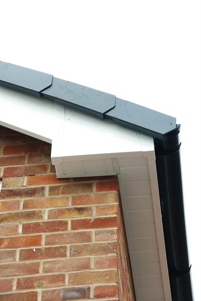 White Fascias Soffits and Guttering
